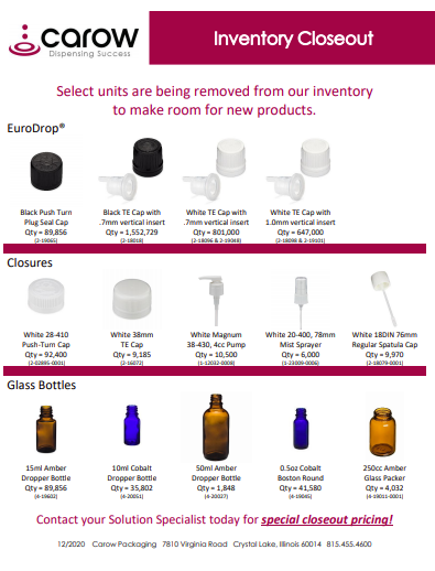 Q4 2020 Inventory Closeout